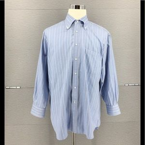 Canali Men's Shirt Striped Made In Italy 44/17 1/2
